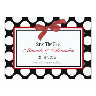 Burgundy Polka Dot Save The Date Invitations