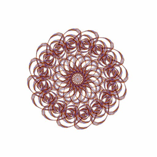 Burgundy (red and blue) rosette #1 design cut out