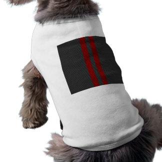 Burgundy Red Carbon Fiber Style Stripes Sleeveless Dog Shirt