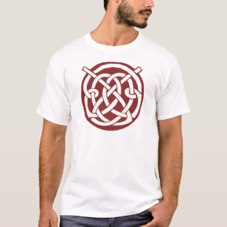 Burgundy Red Celtic Knotwork T-Shirt