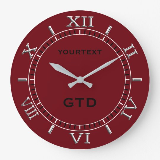 Burgundy Red Decor Dial Easily Personalise This Large
