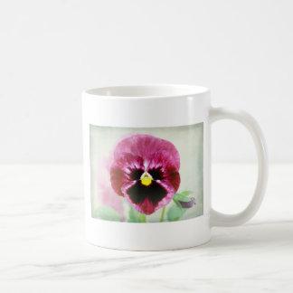 Burgundy Red Pansy Flower Coffee Mug