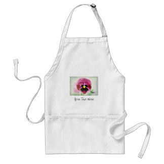 Burgundy Red Pansy Flower on White Apron