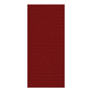 Burgundy Red Weave Look Personalized Rack Card
