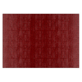Burgundy Red Weave Mesh Look Cutting Board