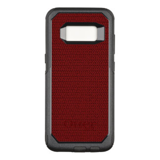 Burgundy Red Weave Mesh Look OtterBox Commuter Samsung Galaxy S8 Case