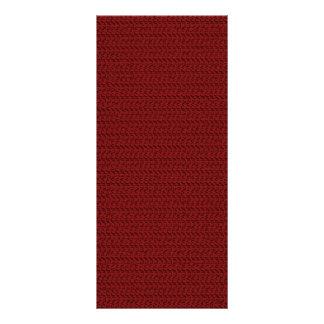 Burgundy Red Weave Mesh Look Personalized Rack Card