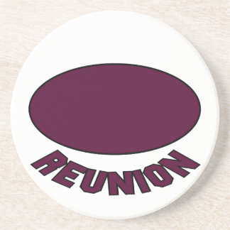 Burgundy Reunion Design Drink Coasters