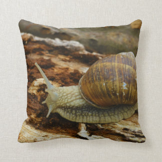 Burgundy Roman Edible Snail Helix Pomatia Cushion
