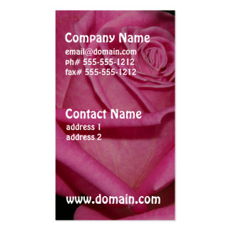 Burgundy Rose Double-Sided Standard Business Cards (Pack Of 100)