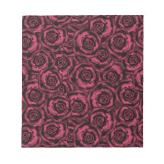 Burgundy roses notepad