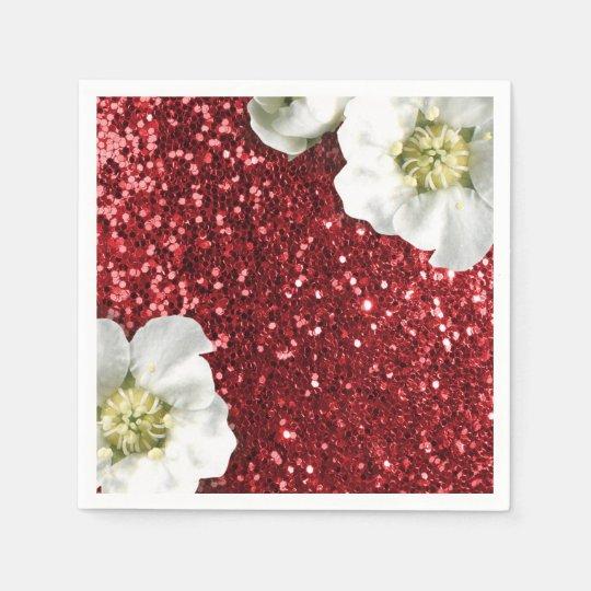 Burgundy Ruby Red Jasmin Glitter Sequin Sparkl Paper
