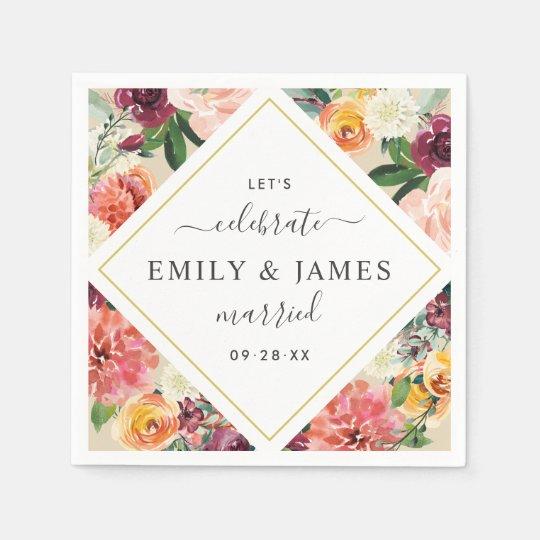 Monogram Paper Napkins Uk: Monogram Burlap & Lace Rustic Wedding Paper Napkin