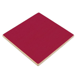 Burgundy Solid Color Maple Wood Coaster