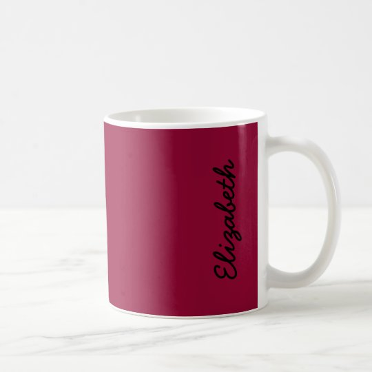 Burgundy Solid Colour Coffee Mug