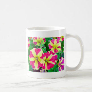 Burgundy Star Petunias Coffee Mug