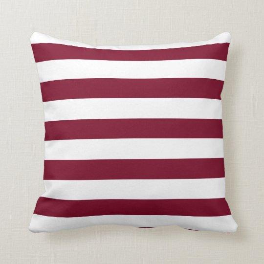 Burgundy Stripes Cushion