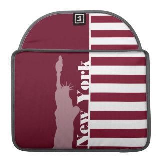 Burgundy Stripes; New York MacBook Pro Sleeves