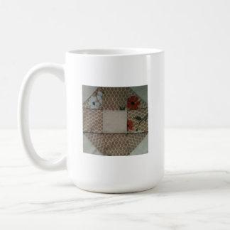 Burgundy & tan wedding ring square basic white mug