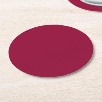 Burgundy Round Paper Coaster