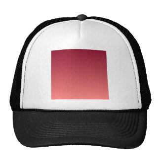 Burgundy to Pastel Red Horizontal Gradient Trucker Hat