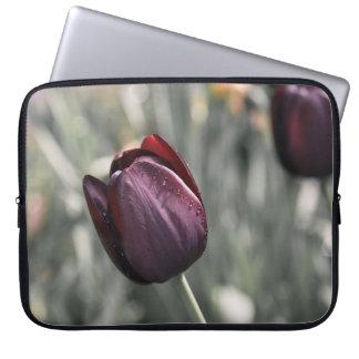 Burgundy Tulip Sunset Art Laptop Sleeve