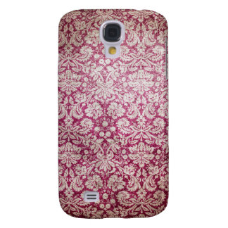 Burgundy Vintage Damask Samsung Galaxy S4 Covers