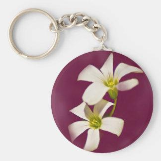 Burgundy Wine Basic Round Button Key Ring