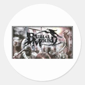 Burial Mound IPhone Case Round Sticker