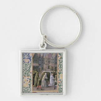 Burial procession key ring