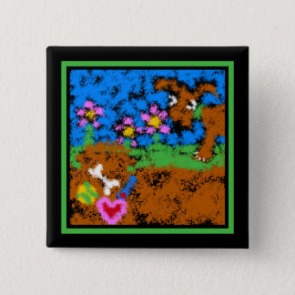 Buried for Safekeeping 15 Cm Square Badge