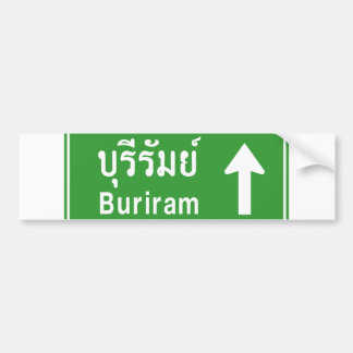 Buriram Ahead ⚠ Thai Highway Traffic Sign ⚠ Bumper Sticker