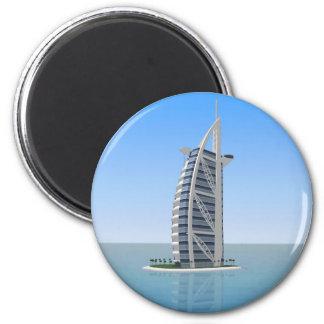 Burj Al Arab Hotel Dubai: 3D Model: 6 Cm Round Magnet