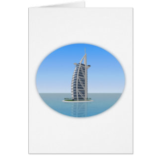 Burj Al Arab Hotel Dubai: 3D Model: Greeting Card