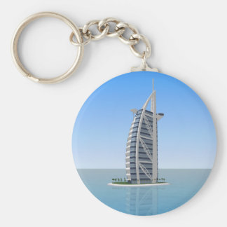 Burj Al Arab Hotel Dubai: 3D Model: Basic Round Button Key Ring
