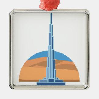 Burj Khalifa Dubai Christmas Ornament