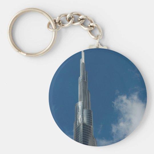 Burj Khalifa skyscraper Basic Round Button Key Ring