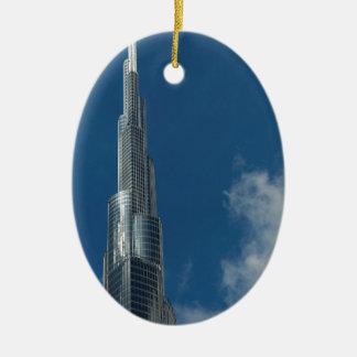 Burj Khalifa skyscraper Christmas Ornament