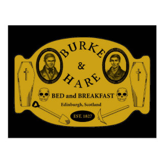 Burke and Hare bed and breakfast Postcard