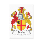 Burke Family Crest Canvas Print