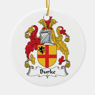 Burke Family Crest Christmas Ornament