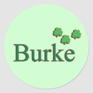 Burke Family Round Sticker
