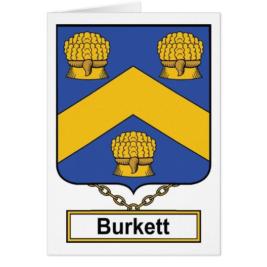 Burkett Family Crest Card