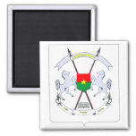 burkina emblem square magnet
