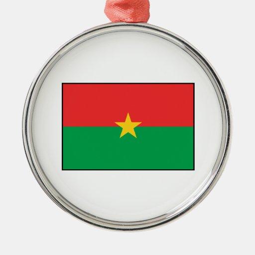 Burkina Faso – Burkinabe Flag Christmas Ornaments