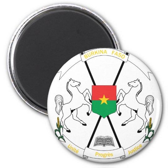 Burkina Faso Coat Of Arms 6 Cm Round Magnet