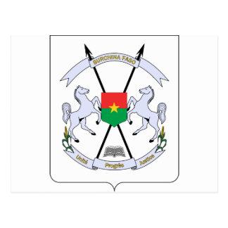 Burkina Faso Coat of arms BF Postcard