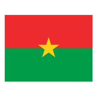 Burkina Faso Flag BF Postcard