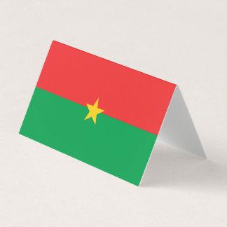 Burkina Faso Flag Card
