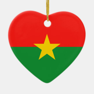 Burkina Faso Flag Heart Ornament